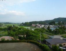 <center>くちないの町(浮牛城から)<br>Town of Kuchinai(From fugyu castle)</center>