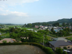 <center>くちないの町(浮牛城から)<br>Town of Kuchinai(From fugyu castle)</center>