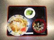 <center>かつ丼<br>Pork Cutlet Rice Bowl</center>